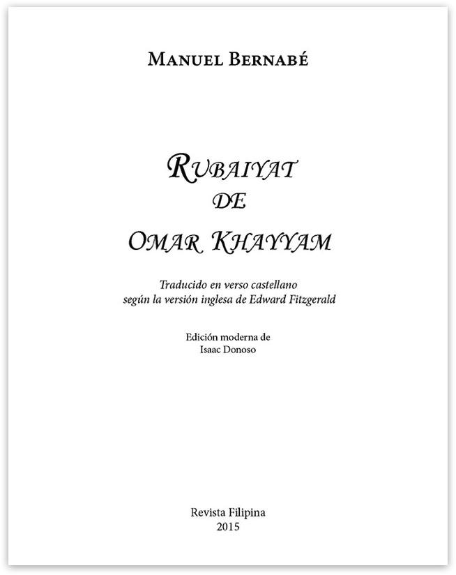 Rubaiyat De Omar Khayam Traducción De Manuel Bernabé